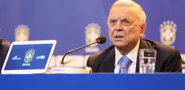 José Maria Marin presidiu a CBF entre 2012 e 2014 e foi sucedido por Del Nero - Divulgação/Mowa Press