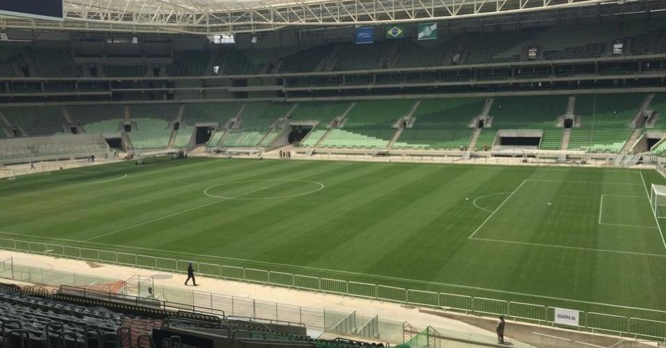 Estádio do Palmeiras tem o gramado pronto para a despedida de Ademir da Guia