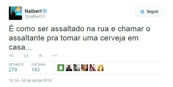 Nalbert comenta resultado das eleições para presidente do Brasil: