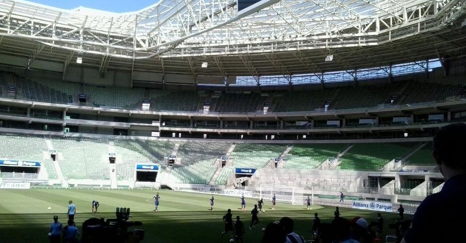 30.out.2014 - Palmeiras faz o primeiro treino em sua nova arena