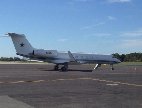 Avião de Jerry Jones, dono do Dallas Cowboys