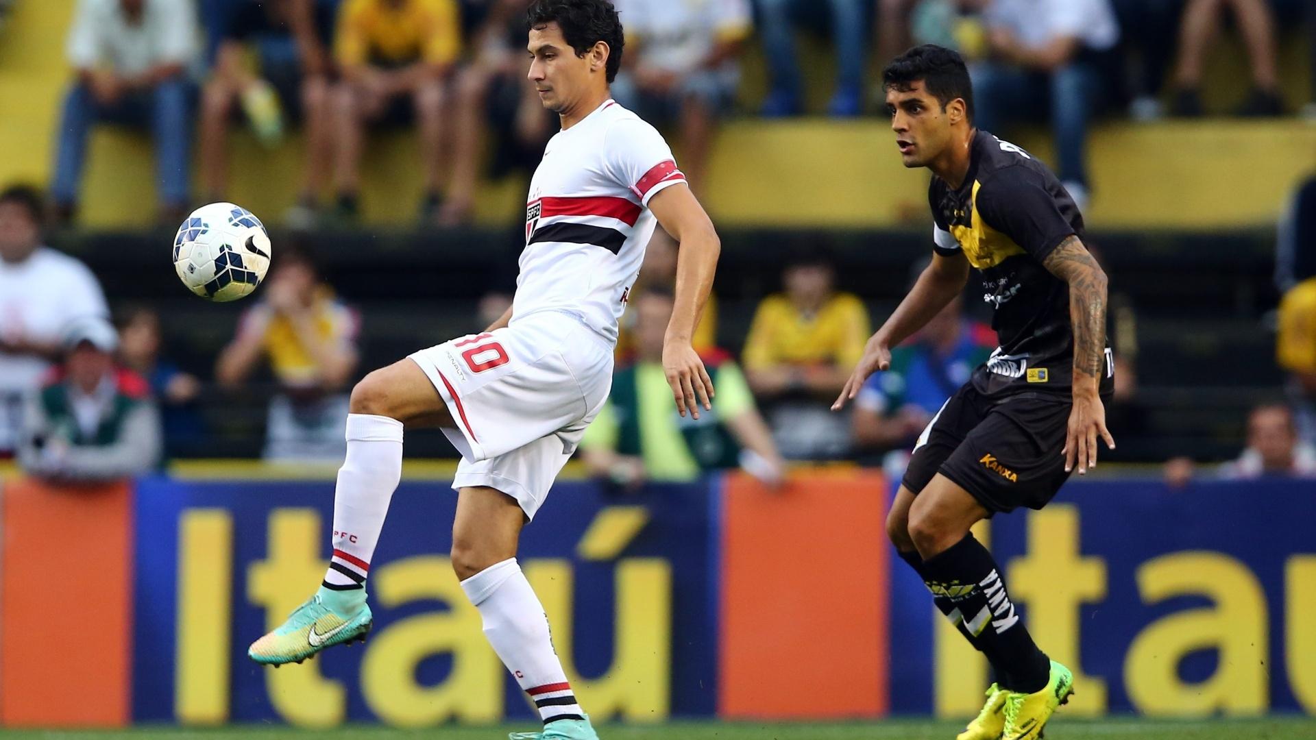 Ganso acerta passe na partida entre São Paulo e Criciúma pelo Brasileirão