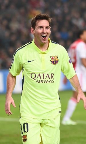 Messi comemora recorde de gols na Liga dos Campeões