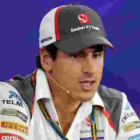 6.11.2014 - Adrian Sutil, da Sauber, cutucou a equipe por anunciar o brasileiro Felipe Nasr em 2015; o alemão tem contrato com a escuderia, mas pode ficar sem vaga - AFP PHOTO / NELSON ALMEIDA - AFP PHOTO / NELSON ALMEIDA