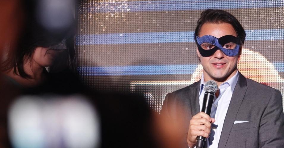 Felipe Massa discursa durante festa na semana do Grand Prêmio do Brasil de Fórmula 1