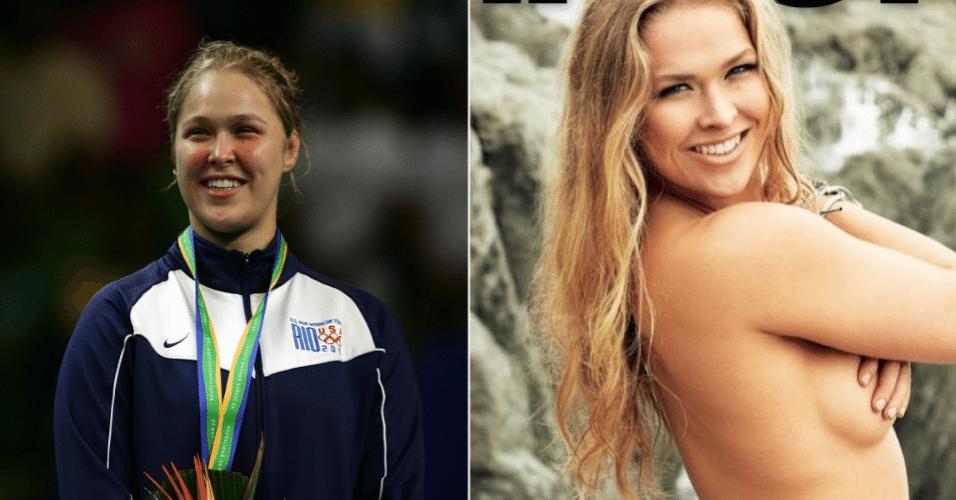 """A lutadora do UFC Ronda Rousey é musa hoje. Em 2007, quando foi campeã do Pan do Rio, ela era """"gordinha"""""""