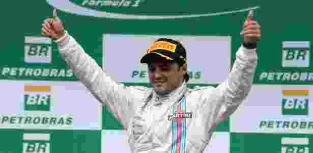 Massa esteve no pódio em seis oportunidades no GP do Brasil - AFP PHOTO / NELSON ALMEIDA