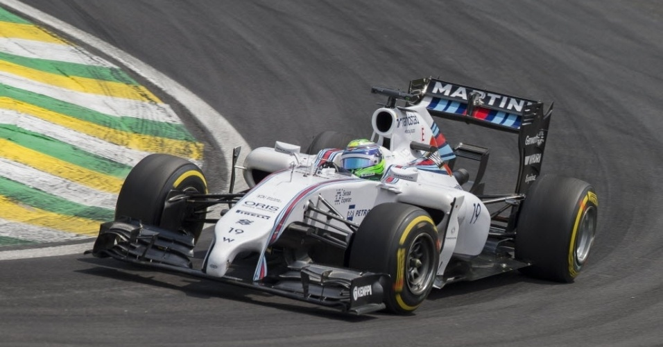 Massa largou na  terceira colocação, atrás das Mercedes de Rosberg e Hamilton