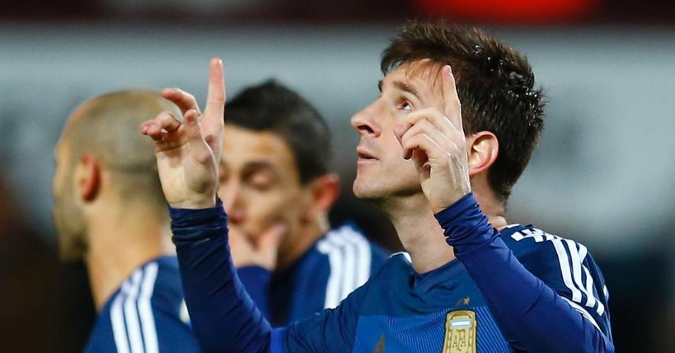 Messi comemora gol da Argentina