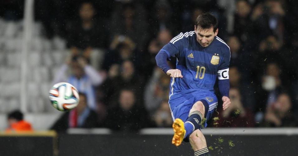 Messi finaliza em amistoso da Argentina contra a Croácia