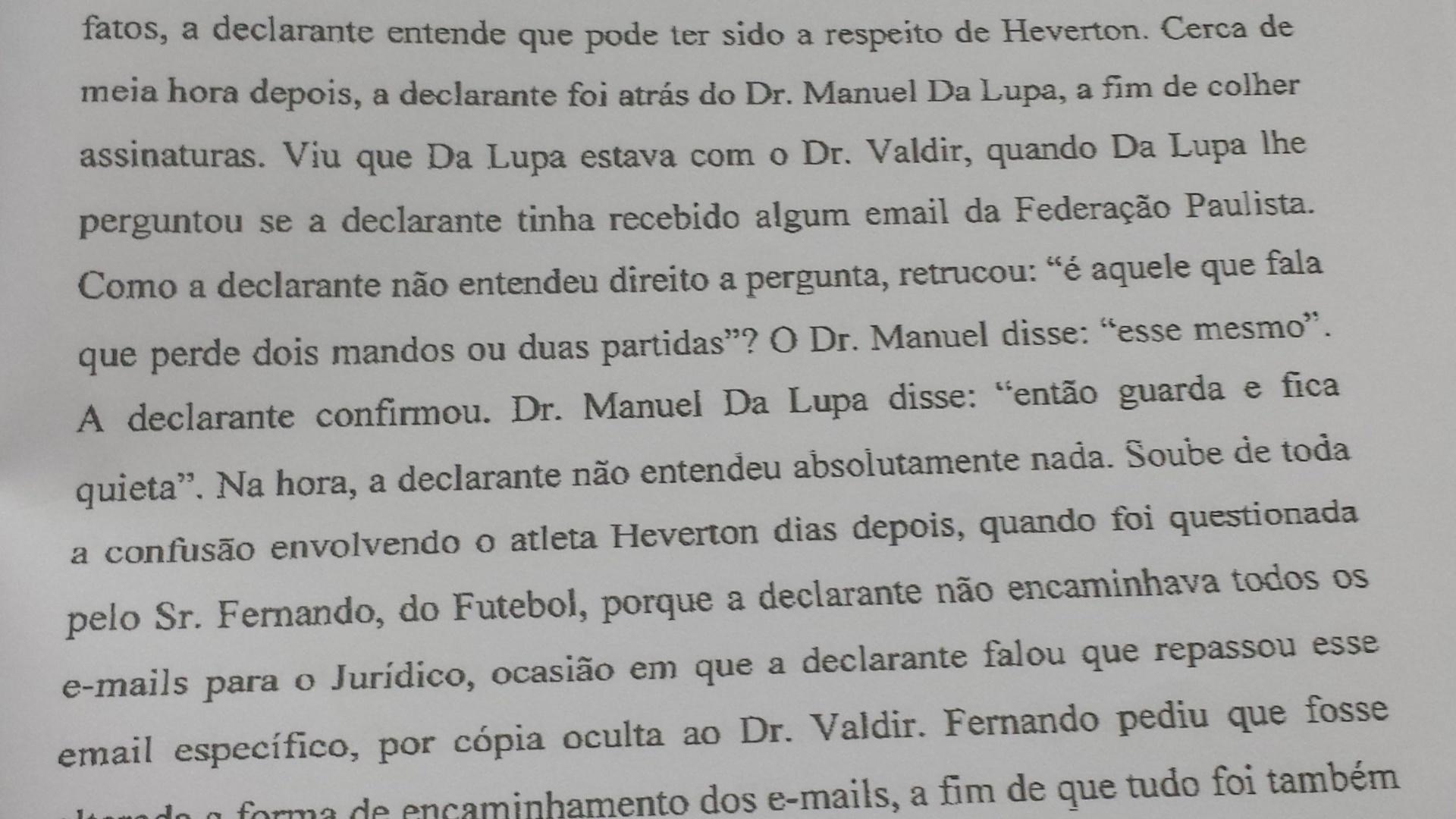 Documento mostra que Da Lupa mandou secretária ignorar aviso da FPF