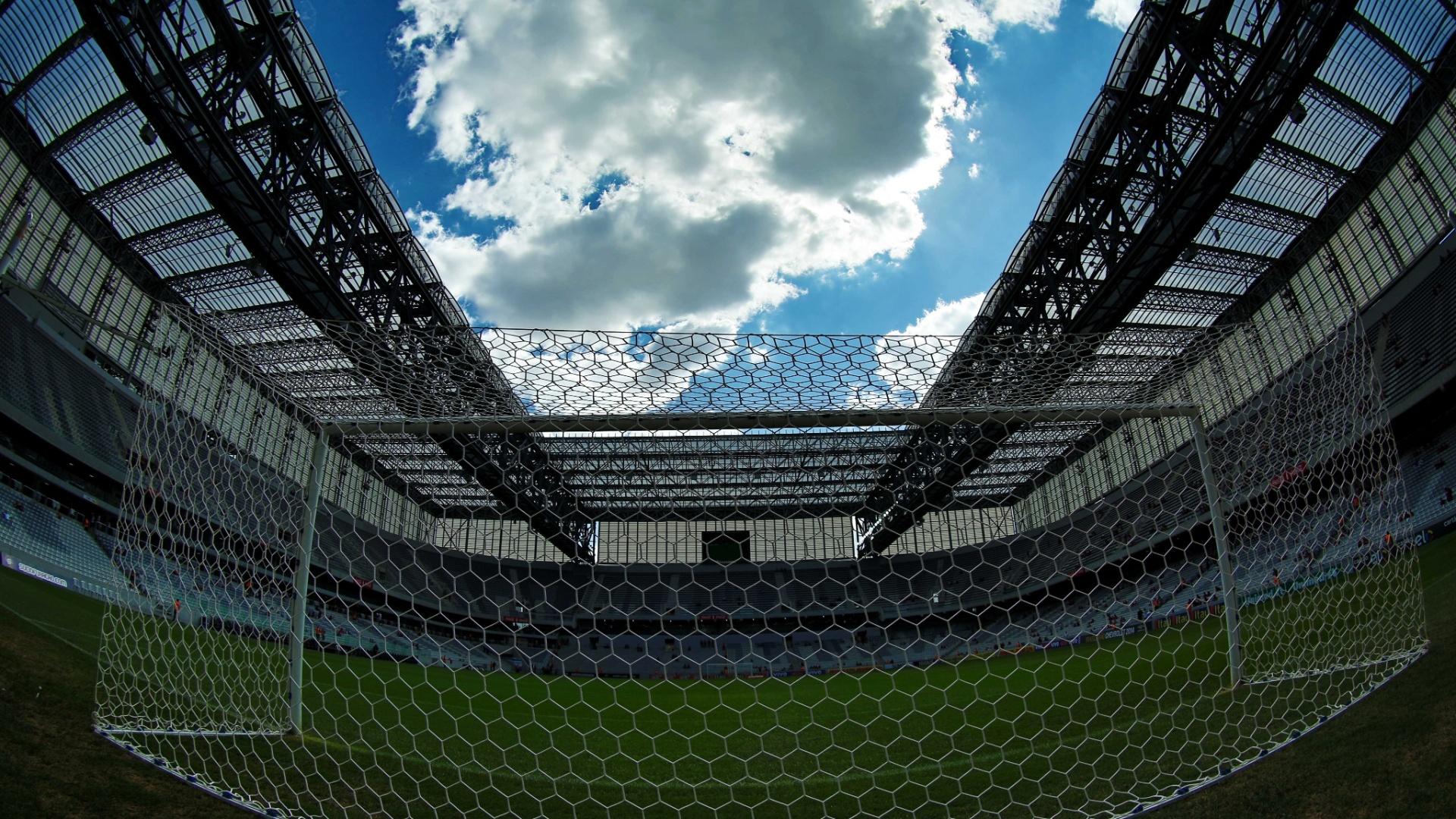 Arena da Baixada pouco antes do confronto entre Atlético Paranaense e Sport pela 34ª rodada do Brasileirão