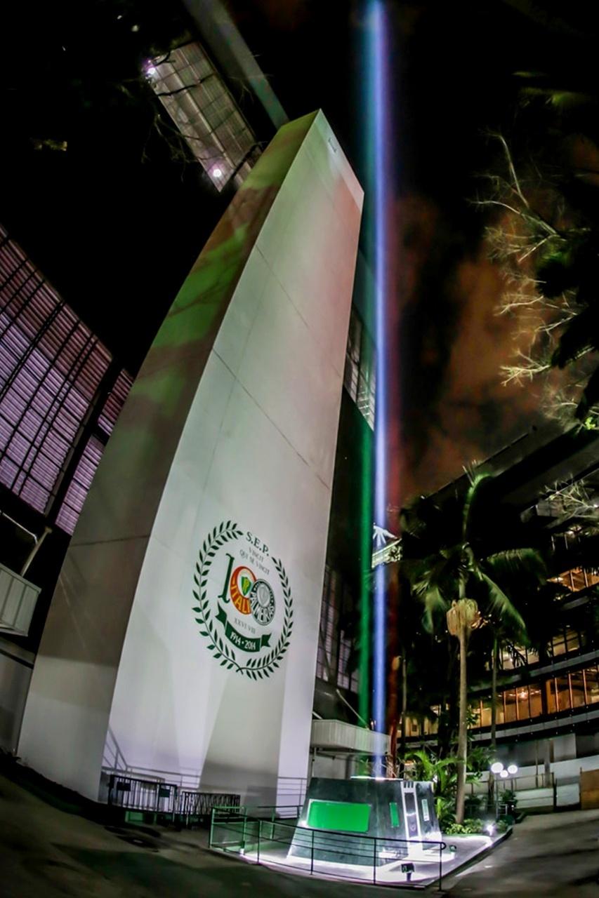 Canhão de luz colocará cores da Itália no céu todo dia que Palmeiras jogar