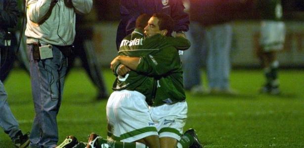 César Sampaio e Zinho no Palmeiras em 1999