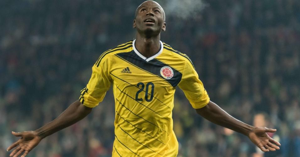Adrian Ramos marcou pela Colômbia no amistoso contra a Eslovênia