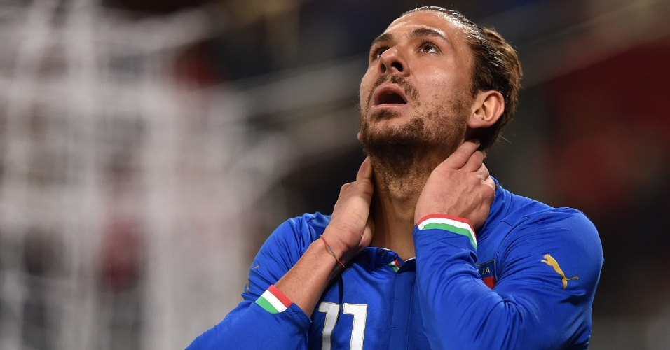 Alessio Cerci lamenta jogada desperdiçada pela Itália contra a Albânia