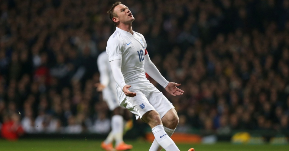 Wayne Rooney lamenta chance desperdiçada pela Inglaterra contra a Escócia