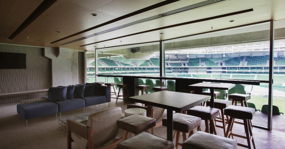 Camarote do Allianz Park, novo estádio do Palmeiras