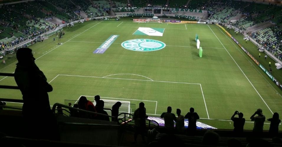 Internauta do UOL mostra interior da Arena Palestra antes de estreia do estádio