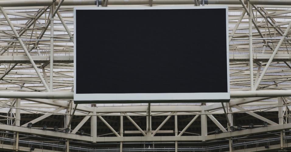 Novo estádio do Palmeiras tem um dos maiores telões do Brasil