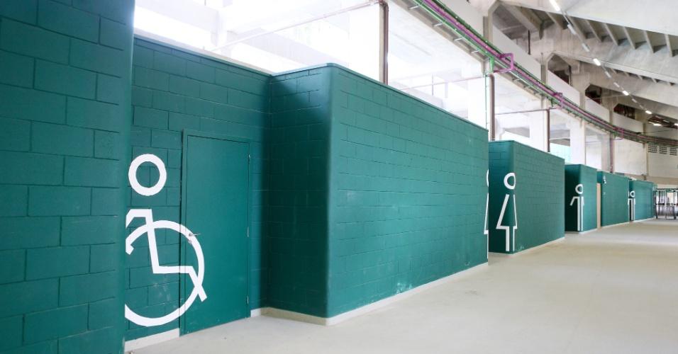 Sanitários da nova arena do Palmeiras