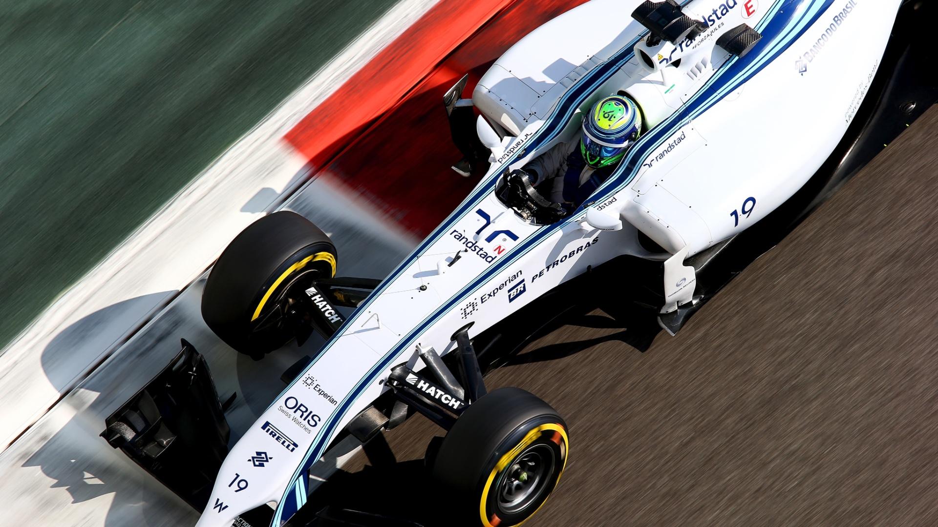 Felipe Massa fez o terceiro melhor tempo na sessão final de treinos livres