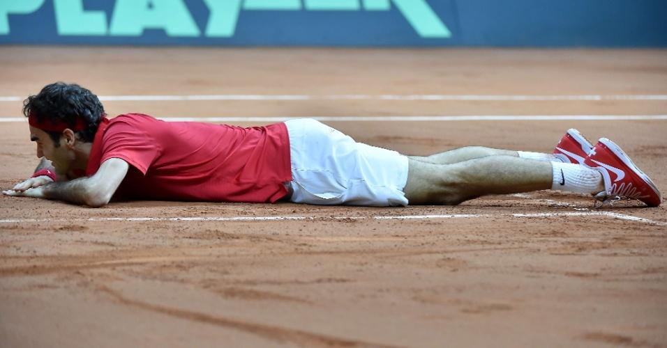 Suíço se emocionou bastante após dar o 1º título de Davis à Suíça