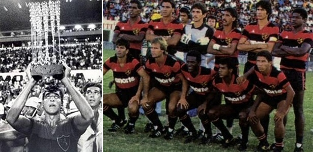 Capitão Estevam ergue a Taça das Bolinhas após polêmica conquista do Sport em 1987