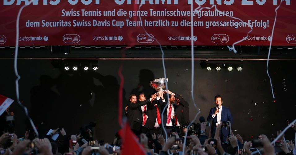 Suíça conquistou a Davis pela primeira vez na história. País havia sido vice em 1992