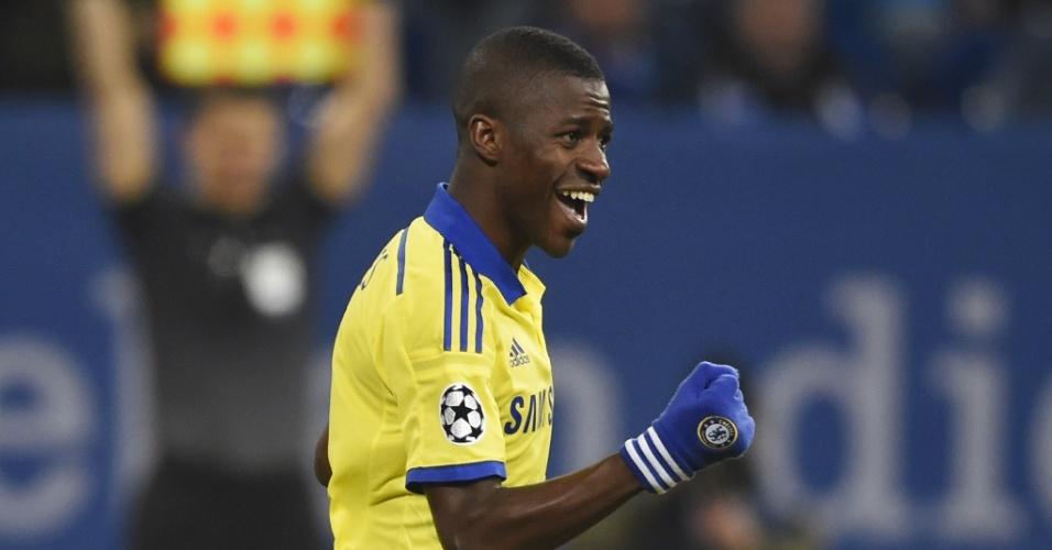 Ramires comemora gol do Chelsea pela Liga dos Campeões