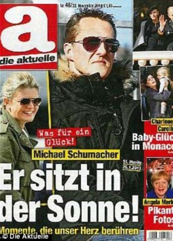 Capa de revista exibe suposta foto de Michael Schumacher em casa de família tomando sol. Imprensa europeia questiona autenticidade