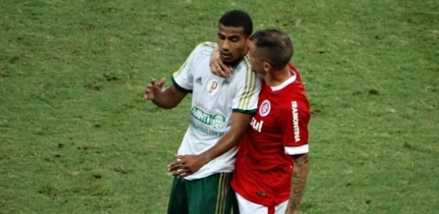 Em 2014, Gabriel Dias defendeu o Palmeiras contra o Internacional de D'Alessandro