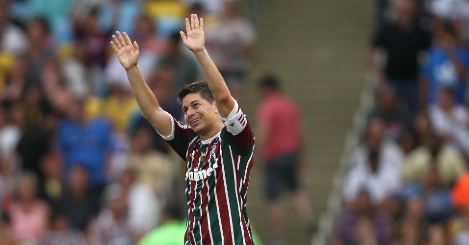 Darío Conca fez o quinto gol do Fluminense na vitória contra o Corinthians