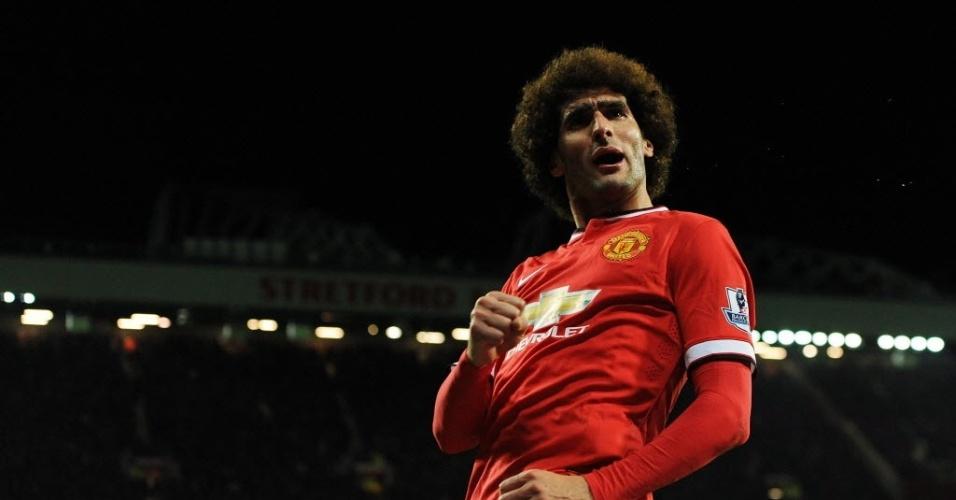 Fellaini comemora seu gol pelo Manchester United