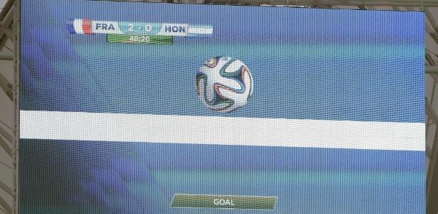 Tecnologia na linha do gol foi usada pela primeira vez em uma Copa do Mundo em 2014 - Franck Fife / AFP