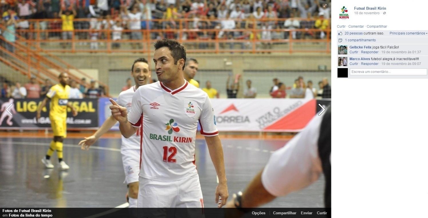 db2b9d49fa Time de Falcão consegue virada incrível e jogador é penta consecutivo -  08 12 2014 - UOL Esporte