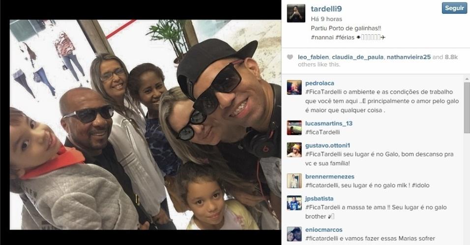 Diego Tardelli aproveitou para viajar para Porto de Galinhas com a família