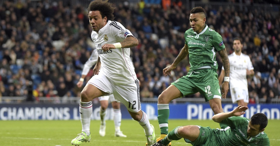 Marcelo deixa marcador do Ludogorets na saudade no último jogo do Real Madrid pela fase de grupos da Liga dos Campeões