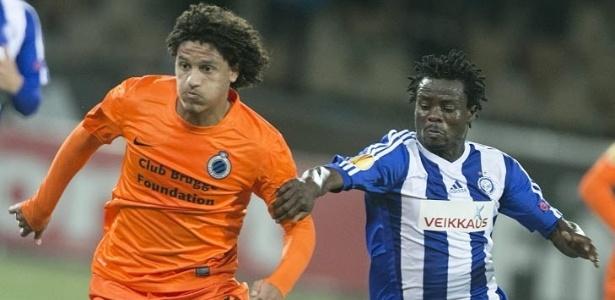 Felipe Gedoz está desde 2014 no Brugge, mas se destacou no Defensor Sporting do Uruguai