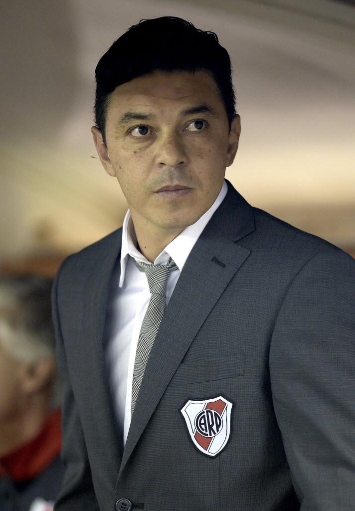Marcelo Gallardo comanda o River Plate na final da Sul-Americana