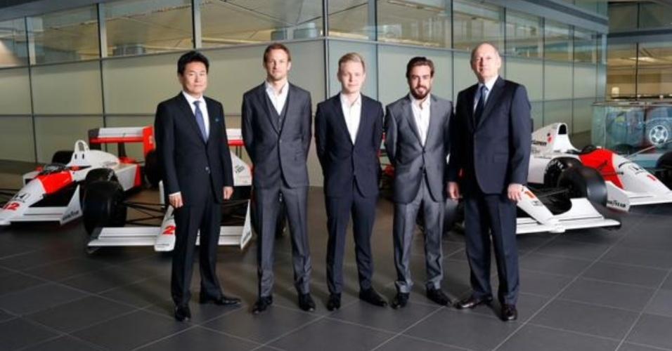 McLaren anunciou Fernando Alonso e Jenson Button como pilotos para temporada 2015