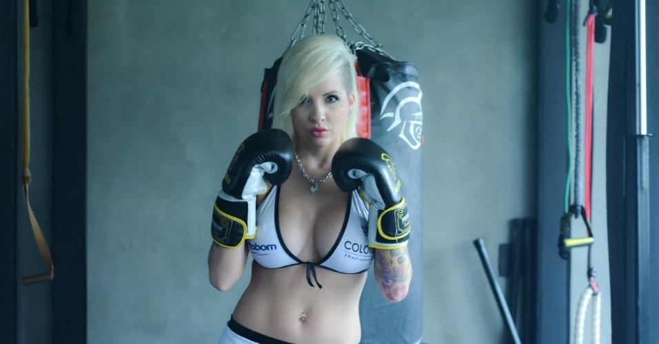Clara, terceira colocada do BBB 14, será ring girl do Jungle Fight
