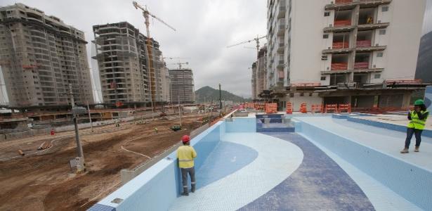 Vila dos Atletas, na Barra, pertence às empreiteiras Odebrecht e Carvalho Hosken