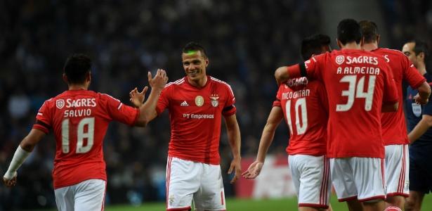 Lima em ação pelo Benfica; centroavante se ofereceu para o Corinthians por 3 meses