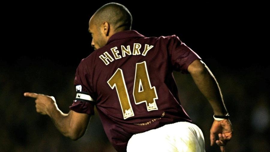 Henry marcou época na Premier League com a camisa do Arsenal - AFP