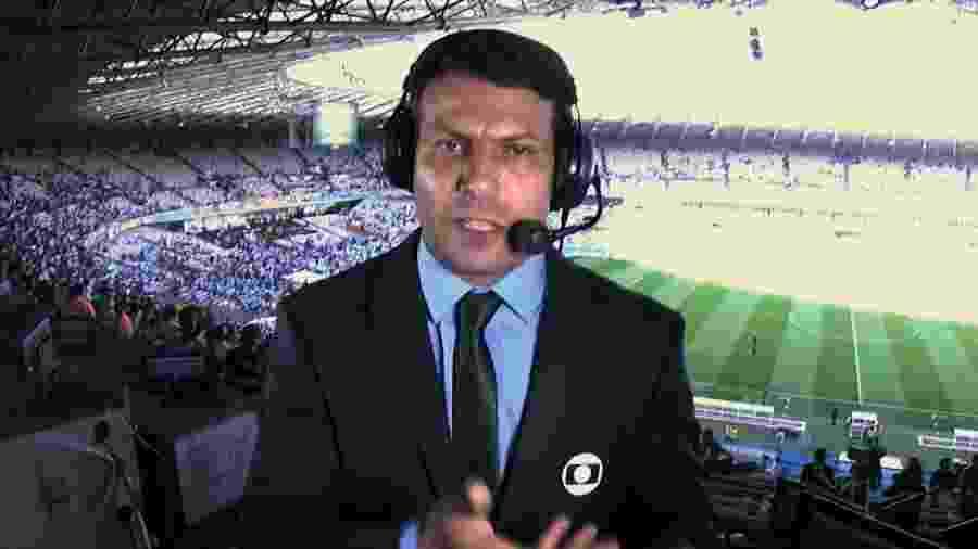 Leonardo Gaciba estava atuando como comentarista de arbitragem da TV Globo - Reprodução