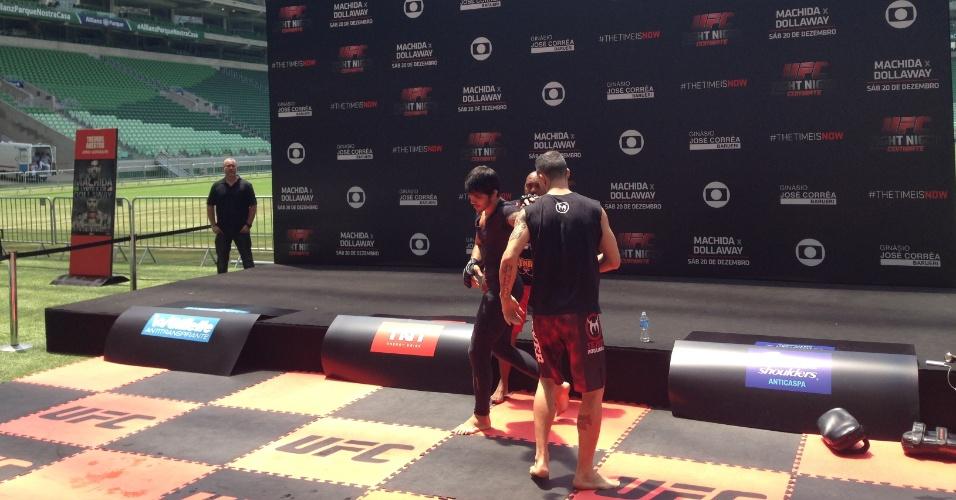 Erik Silva participa do treino aberto na Arena Palestra para o UFC Barueri