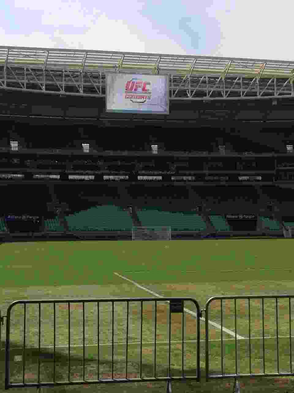 Estádio do Palmeiras, Allianz Parque, recebeu um treino aberto do UFC nesta quinta-feira - undefined