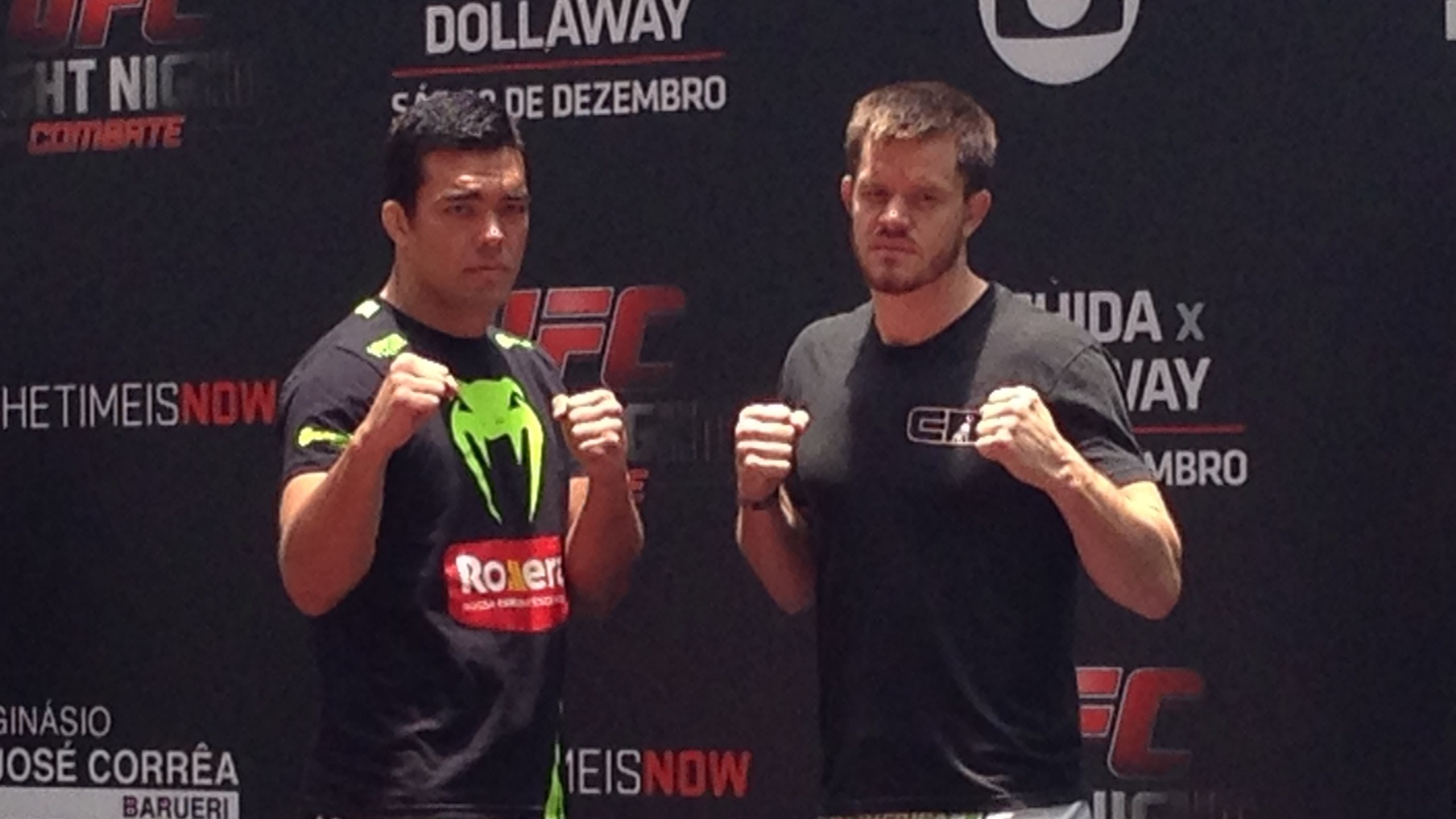 Lyoto Machida e CB Dollaway participam de treino aberto do UFC no Allianz Parque