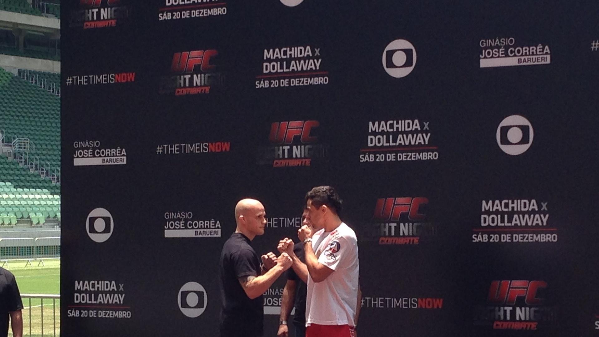 Renan Barão encara Mitch Gagnon em treino aberto do UFC na Arena Palestra